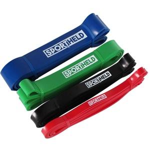 Sportheld Profi FITNESSBAND | 4 Farben (Stärken) | 100% Naturlatex - schadstofffrei & hygienisch | TRAININGSBAND, GYMNASTIKBAND, WIDERSTANDSBAND, Loop Gummi MINIBAND, Resistance Band [04.] - blau