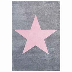 Livone Kinderteppich Happy Rugs STAR silbergrau/rosa 160x230 cm