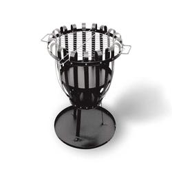 Activa Feuerkorb PALERMO mit Grillrost aus Flachstahl, schwarz