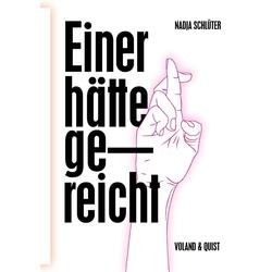Einer hätte gereicht als Buch von Nadja Schlüter