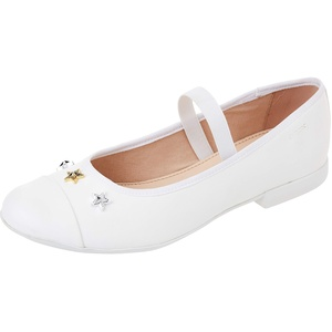 Geox JR PLIE' B Ballet Flat, White, 33 EU