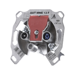 BK-Modem-Durchgangsdose 13dB 5-1218 MHz GUT MME 13