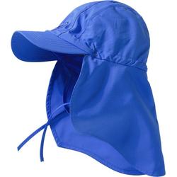 hyphen Sonnenhut Kinder UV-Schutz Sonnenhut mit Nackenschutz blau 46-48
