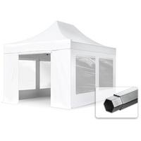 TOOLPORT Faltpavillon ALU Pavillon Partyzelt in weiß wasserdicht Faltzelt Klappzelt