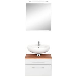 HELD MÖBEL Badmöbel-Set Davos, (2-St), Spiegelschrank und Waschbeckenunterschrank weiß