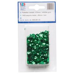 VBS Pailetten, Ø 6 mm grün