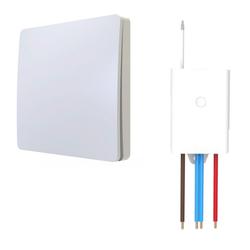 kalb Schalter kalb Funkschalter SET für LED Beleuchtung 230V Montage an der Wand Taster Drahtlos Kinetischer Batterieloser Schalter mit Empfänger