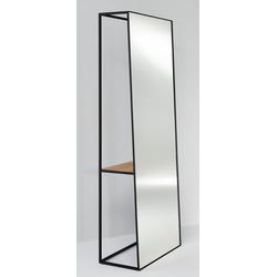 Casa Padrino Luxus Standspiegel mit Regal 65 x 32 x H. 17 cm - Designer Spiegel
