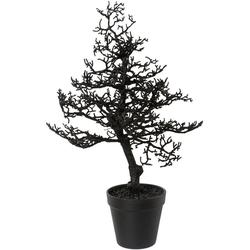 Kunstbaum Hainbuche, Höhe 44 cm, mit Glitter schwarz