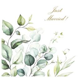 Linoows Papierserviette 20 Servietten, Zur Hochzeit, Just Married und, Motiv Zur Hochzeit, Just Married