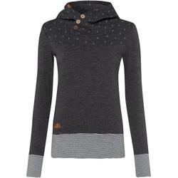 Ragwear Sweater LUCIE mit spirituellem Zierknopf-Besatz grau XXL