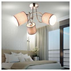 etc-shop Deckenleuchte, Design Decken Lampe Arbeitszimmer Strahler Büro Textil Leuchte grau im Set inklusive LED Leuchtmittel