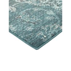 Teppich Patchwork Dessin grün ca. 80/200 cm, (Läufer)