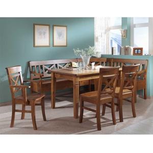 Eckbankgruppe in Bernsteinfarben Kiefer massiv (5-teilig)