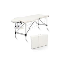 FCH Massageliege 3 Zonen Klappbar Massagetisch (Set), Mobile Therapieliege Tragbares Massagebett mit Höhenverstellbaren weiß