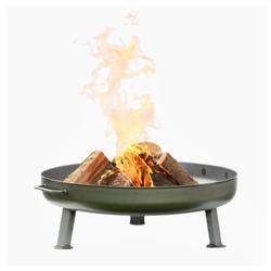 Czaja Feuerschale Czaja Stanzteile Feuerschale Bonn Ø 80 cm - mit Wasserablaufbohrung - Feuerschalen für den Garten, Terrasse und Balkon, Feuertonne und Feuerkorb, große Feuerstelle für den Garten