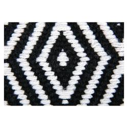 Teppich, Pro Home, eckig, Teppich aus 100% Baumwolle, Baumwollteppich Black & White schwarz 60 cm x 90 cm