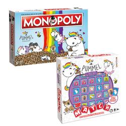 Monopoly Pummeleinhorn + Top Trumps Match Pummeleinhorn