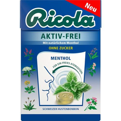 RICOLA AKTIV-FREI ohne Zucker Bonbons 50 g