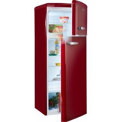 Kühl-/Gefrierkombination, 144 cm hoch, 55 cm breit, Kühlgefrierkombinationen, 98922731-0 rot rot
