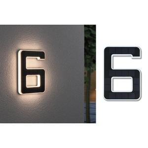 Paulmann Außen-Wandleuchte Outdoor Solar, Hausnummer 6