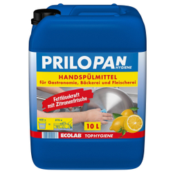ECOLAB Prilopan Handspülmittel, Für besonders hohe Fettlösekraft mit Zitronenfrische, 10 Liter - Kanister