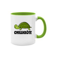 Shirtracer Tasse Chillkröte - Tasse zweifarbig