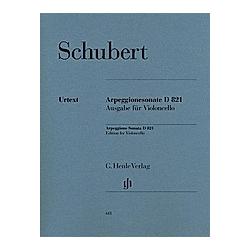 Sonate für Klavier und Arpeggione a-Moll D 821 (op. post.)  Fassung für Violoncello. Franz - Arpeggionesonate a-moll D 821 Schubert  - Buch