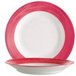 Suppenteller 22,5 cm Form Brush - Red / Rot Arcoroc