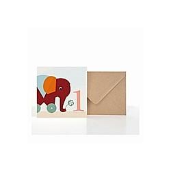 Grußkarte 1. Geburtstag (VE5)