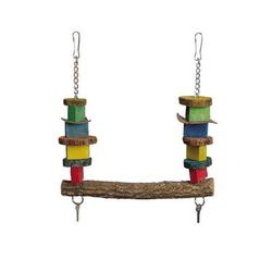Papageienspielzeug Vogelspielzeug Holz 31 cm