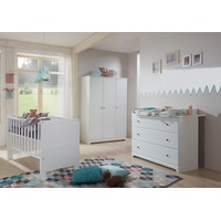 arthur berndt Babyzimmer-Komplettset Thilo, (Set, 3-St), Made in Germany; mit Kinderbett, Schrank und Wickelkommode