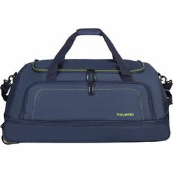 Travelite Basics XL 2-Rollen Reisetasche 78 cm zusammenrollbar marine limone