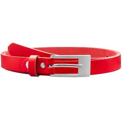 COLOGNEBELT Ledergürtel ca. 2 cm breit in Rot mit flacher Gürtelschließe
