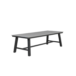 GMD Living Gartenmöbelset BRISBANE, (1 Gartentisch, 1-tlg., großer Gartentisch aus Aluminium und Polywood) 100 cm x 77 cm x 0 cm