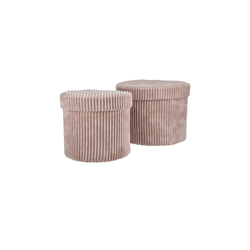 Aufbewahrungsbox, 2er-Set ¦ rosa/pink ¦ Karton Ø: 22