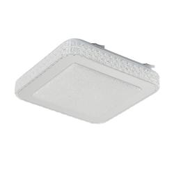 LED-Deckenleuchte mit Kristallglas ´eckig´ ¦ silber