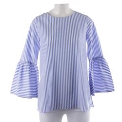 Soluzione Damen Bluse blau / weiß, Größe 38, 4968175