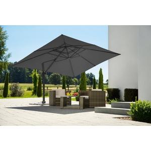 Schneider Schirme Ampelschirm Rhodos Grande, LxB: 360x400 cm, Inkl. Schutzhülle mit Schirmständer, ohne Wegeplatten