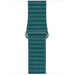 Apple Leather Loop Lederarmband Peacock