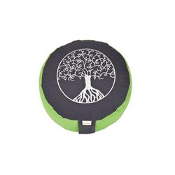yogabox Yogakissen Glückssitz Lebensbaum grau