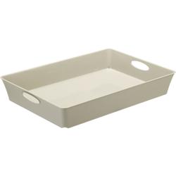 Rotho LIVING Box, 4,5 Liter, Aufbewahrungsbox, Maße: 375 x 266 x 60 mm, Farbe: cappuccino