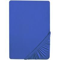 Biberna Biberna, Jersey, mit Rundumgummi blau 140-160 cm x 200 cm