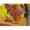 Artland Wandbild Blumen in Vase und eine Feldflasche, Arrangements (1 Stück) 120 cm x 90 cm
