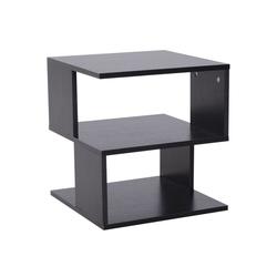 HOMCOM Beistelltisch Beistelltisch im modernen Design schwarz