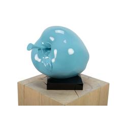 KUNSTLOFT Dekofigur Verzauberter Apfel, handgefertigte Figur aus Kunststein