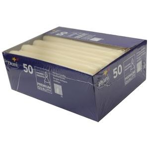 Duni Leuchterkerze cream 250x22mm 50Stk.