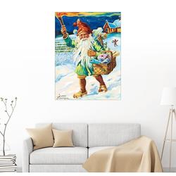 Posterlounge Wandbild, Gnom mit Fackel 60 cm x 80 cm