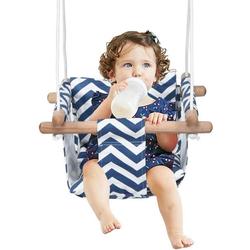 COSTWAY Babyschaukel Baby Schaukelsitz Kinderschaukel Türrahmen Schaukel blau