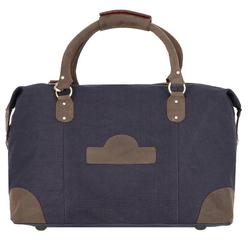 Dermata Reisetasche 50 cm dunkelblau-braun